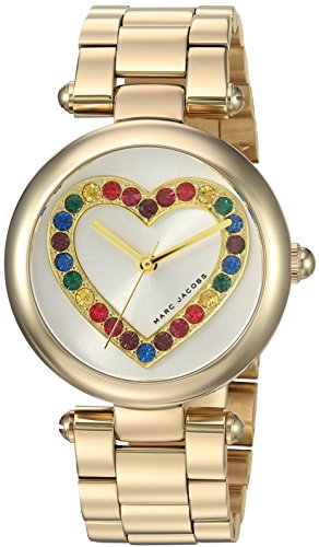 Marc Jacobs Women's 'Dotty' Quartz Stainless Steel Casual Watch, Color:Gold-Toned (Model: MJ3544)