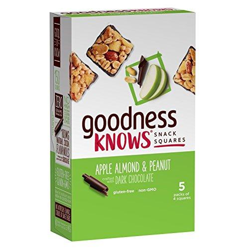 goodnessknows Gluten Free Snack Square Bars 18-Count Box