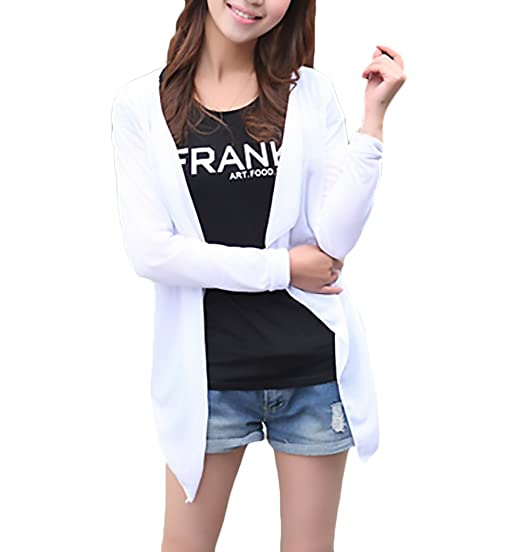 Cardigan Mujer Elegantes Manga Larga Irregular Fino Pareos Playa Primavera  Verano Moda Color Sólido Casual Suelto Bikini Cover Up Tops  Amazon.es   Ropa y ... f2554680dff8