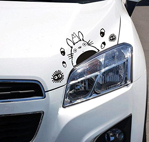 Thedmhom 2 Pcs Cute Kawaii Animal Cartoon Anime Totoro Car Sticker Decorative Combination Window Wall Laptop Stickers Decal Notebook Deco Auto Decoration Home Decor Decals DIY Novelty Gift