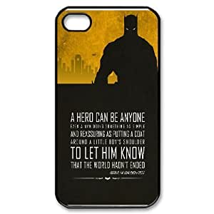 Batman Quotes A Hero Can be Anyone iPhone 4/4s Cases, Printed Iphone 4s Case For Girls Yearinspace {Black} by ruishername