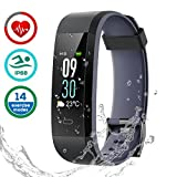 CHEREEKI Fitness Tracker [Latest Version], Color Screen Activity Tracker Smart Bracelet Waterproof IP68 Pedometer Watch 24-Hours Heart Rate Monitor/ 14 Sport Modes for Android & iOS