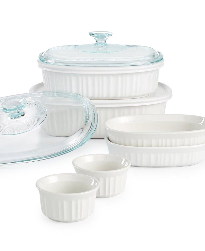 Corningware French White 10 Piece Bakeware Set COMIN16JU007444