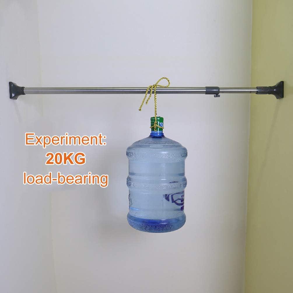 Percha de Ropa de Metal BAOYOUNI Barra de Cortina de Ducha Extensible Recta Ovalada para Ventana Barra de tensi/ón