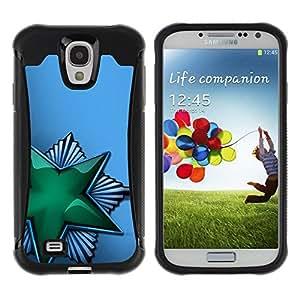 Suave TPU GEL Carcasa Funda Silicona Blando Estuche Caso de protección (para) Samsung Galaxy S4 IV I9500 / CECELL Phone case / / Green Shiny Star Soviet /