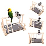 QBLEEV Bird's Nest Stand Playground Climb Wooden Perches (bird stand(14.4