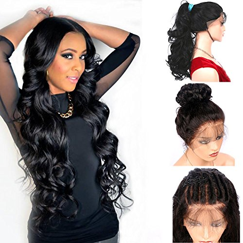 Hairline Synthetic Hair Lace - Vvan Glueless Lace Front Wig Long Body Wave Natural Black Heat Resistant Natural Hairline Hair Synthetic Lace Wigs For Women With Baby Hair 24