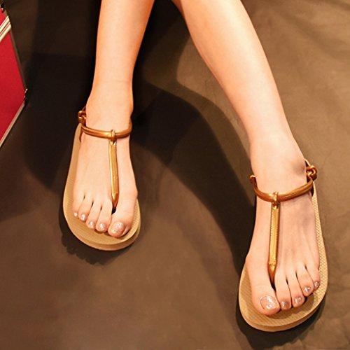 MagiDeal Zapatos para Mujer Sandalias Elegante de Chicas Chanclas de Muchacha Casual Marrón