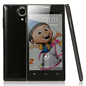 Mzamzi - Gran valor mini p6 4.5 android 4.2.2 512mb 1gb mtk6572 dual -core processor 1.3ghz bar smartphone ( estándar de ee.uu. ) negro \
