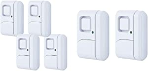 GE Personal Security Window/Door, 4-Pack, DIY Protection, Burglar Alert, Wireless, Chime/Alarm, 4 Pack & Personal Security Window/Door, 2-Pack, DIY Protection, Wireless Chime/Alarm, 2 Count