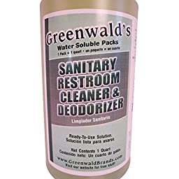 Greenwald\'s Sanitary Restroom Cleaner - Includes Bonus Refill Packet and Professional Spray Bottle - 20 Count