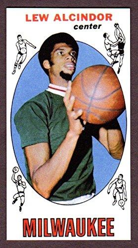 - Lew Alcindor 1969-70 Topps Basketball Rookie Reprint Card w/ Original Back (Milwaukee) (Los Angeles) (Kareem Abdul Jabbar)