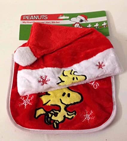 Amazon.com  My First Christmas Hat   Bib Set with Woodstock from Peanuts on  Them!  Everything Else cfc90e7d8d1
