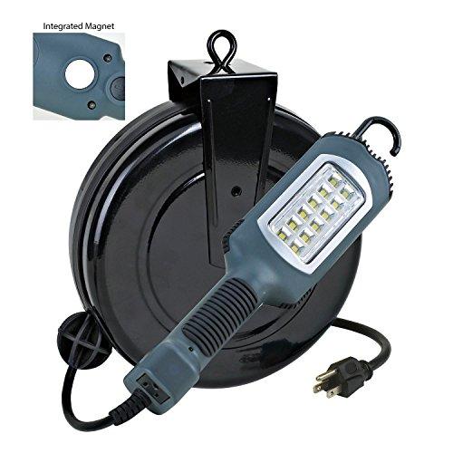 Professional Fluorescent Retractable Reel Garage Shop Work: Professional LED Retractable Cord Reel Shop Garage Work