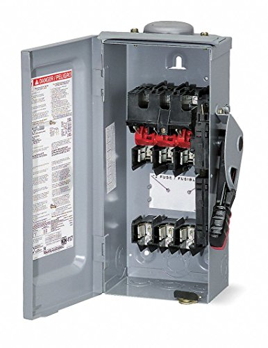 Safety Switch, 3R NEMA Enclosure Type, 100 Amps AC, 15 HP @ 240VAC HP by Square D