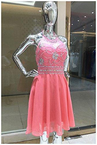 Belle Maison Robes De Mariée En Mousseline De Soie Juniors Soirée Bal Licol Robes De Bal Sd394-corail