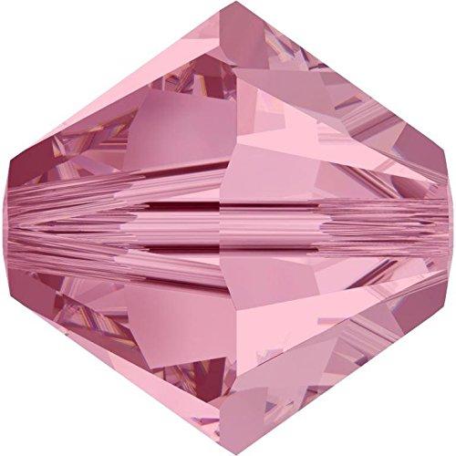 SWAROVSKI Crystal Xilion Bicones/Beads 5328 6mm LIGHT ROSE Pack of 20 Wholesale Genuine Supplied by SWAROVSKI RETAILER ()