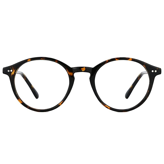 1950s Men's Clothing TIJN Blue Light Blocking Glasses Men Women Vintage Thick Round Rim Frame Eyeglasses $17.99 AT vintagedancer.com