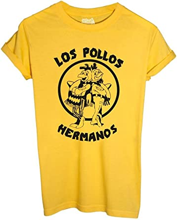 MUSH T-Shirt Los Pollos Hermanos Breaking Bad Stencil - Film by Dress Your Style: Amazon.es: Ropa y accesorios