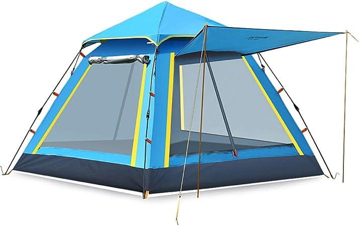 Dos Habitaciones, Una Sala, Tienda De CampañA A Prueba De Lluvia Engrosada, 3-4 Personas Al Aire Libre, Campamento De Playa Salvaje AutomáTico, Campamento Familiar (4 Colores): Amazon.es: Hogar
