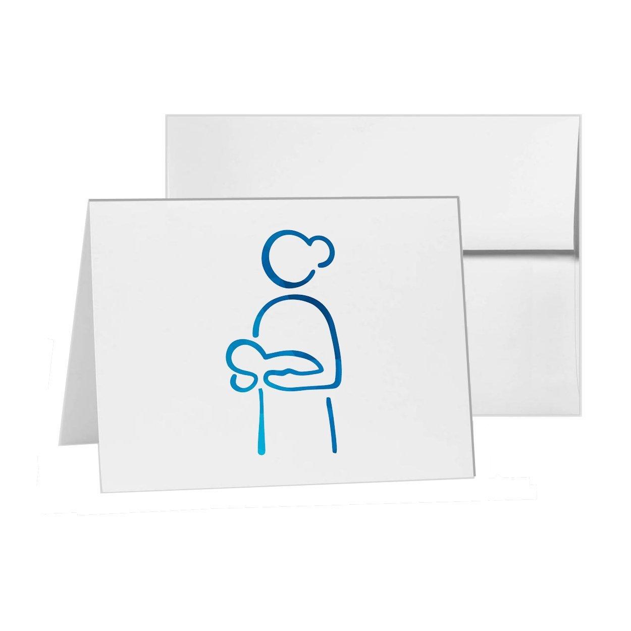 Tarjeta de invitación para recién nacido, madre materna, en blanco ...