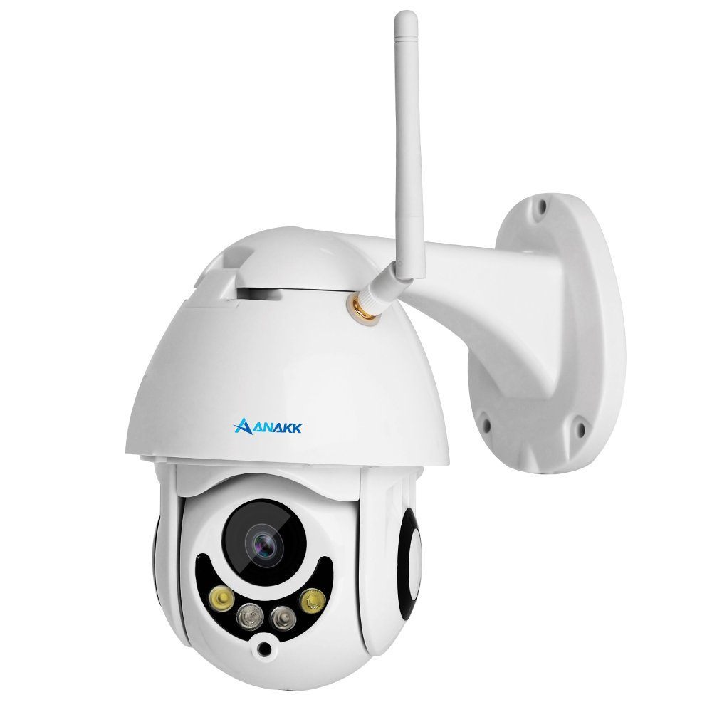 Anakk Outdoor Wireless Wifi Security Camera Pan Tilt HD 1080P IP Camera With Night Vision Motion Detection 3.6mm Lens IP66 Weatherproof For Home Surveillance Baby & Pet by Anakk