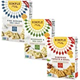 Simple Mills - Almond Flour Grain Free, Gluten Free Crackers - Vegan, Paleo Variety Pack - 4.25 ounce each (Pack of 3)