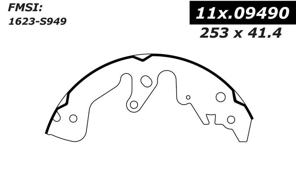 Centric (111.09490) Brake Shoe