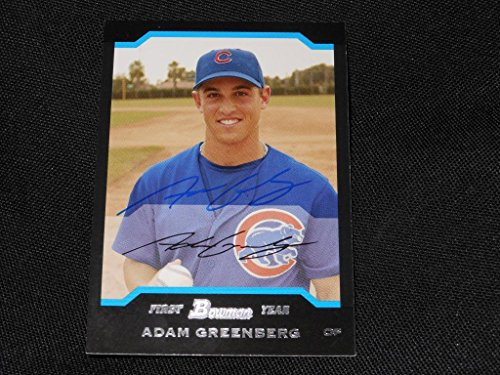 2004 Bowman Autographs - Chicago Cubs Adam Greenberg Signed 2004 Bowman Autograph Card #180 TOUGH 113