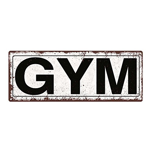 Gym Metal Street Sign, Rustic, Vintage