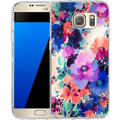 style-Hundred Flowers blossom, LAACO Scratch Resistant TPU Gel Rubber Soft Skin Silicone Protective Case Cover for Samsung Galaxy S7 (Style Silicone Rubber Case)