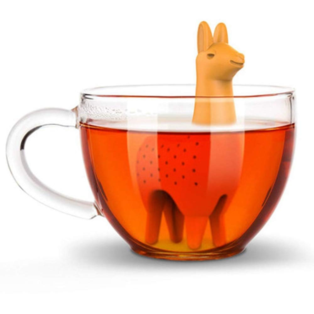 1PC Silicone Tea Infuser Llama Shape Tea Strainer Filter Herb Spice Diffuser Reusable Herbal Tool Creative Drinkware Accessories