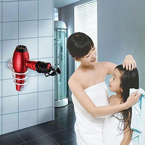 80%OFF Aluminium Bathroom Wall-Mounted Hair Dryer Storage Holder