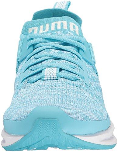 Puma Donna Ignite Evoknit Lo Wn Sneaker Nrgy Turchese-puma Bianco