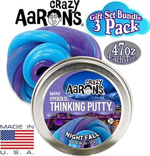 3 Pack Gift Set Bundle Crazy Aarons Thinking Putty Super Sky Mini Tins /& Aurora Sky Glow Nightfall Super Star Hypercolor Illusion .47oz Each