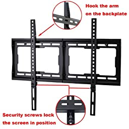 VideoSecu Low Profile TV Wall Mount Bracket for Most 32'' - 75'' LCD LED Plasma HDTV, Compatible with Sony Bravia Samsung LG Haier Panasonic Vizio Sharp AQUOS Westinghouse Pioneer ProScan Toshiba 1NN
