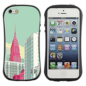 Suave TPU GEL Carcasa Funda Silicona Blando Estuche Caso de protección (para) Apple Iphone 5 / 5S / CECELL Phone case / / York Empire Building Art Poster /