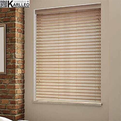 Manual/Motorized Timber Real Wood Basswood Venetian Blinds Curtain Website Priced at Manual(1pc,39