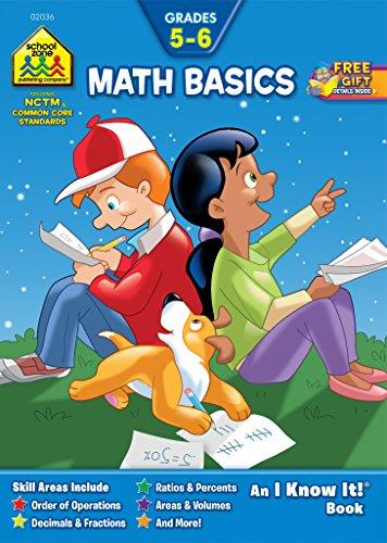 School Zone Math Basics Workbook (Math Basics Grades 5-6 Workbook (An
