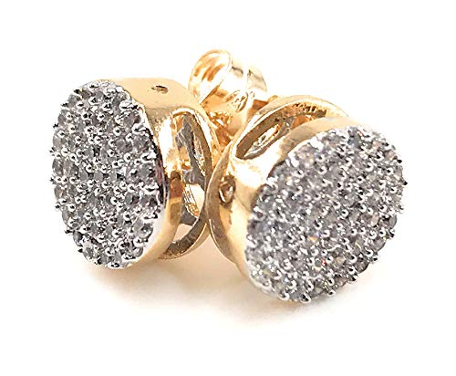 Fashion Micro Pave Earrings Stud 18K Gold Plated Jewelry for Women