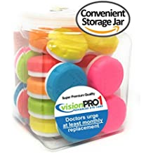 Contact Lens Case, Vision Pro 1, (Pack of 12) in convenient storage jar