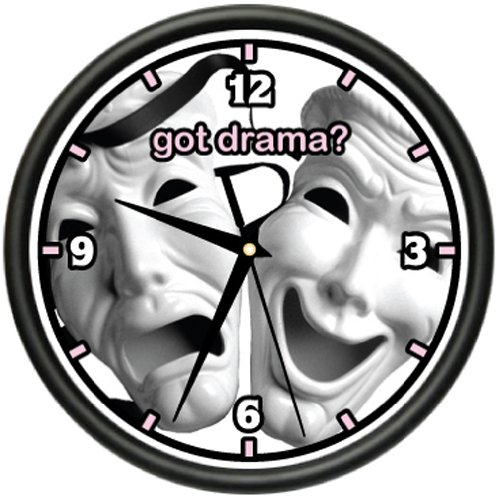 DRAMA Wall Clock student actor theater mask movie gift