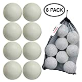 Cheap Kidtastic T-Ball Balls, 3.5-inch, Jumbo Size (8 Pack) with Durable Mesh Ball Bag, Great for T-Ball, Softball and Baseball Practice, Ages 18 Months and Up