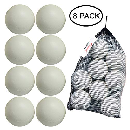Kidtastic T-ball Balls, 3.5-inch, Jumbo Size (8 pack) with Durable Mesh Ball Bag, Great For T-Ball, Softball and Baseball Practice, Ages 18 Months and Up ()