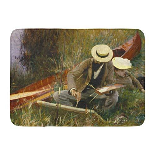 Bath Mat Painters John Singer Sargent Out of Doors 19Th Bathroom Decor Rug