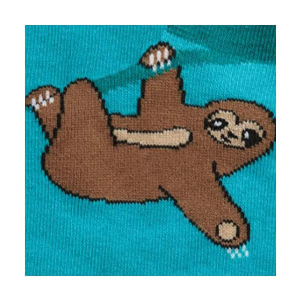 Sock It To Me Sloth Ankle Socks, One Size - Green -