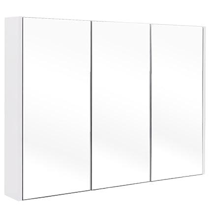 Amazon 36 Wide Wall Mount Mirrored Bathroom Medicine Cabinet