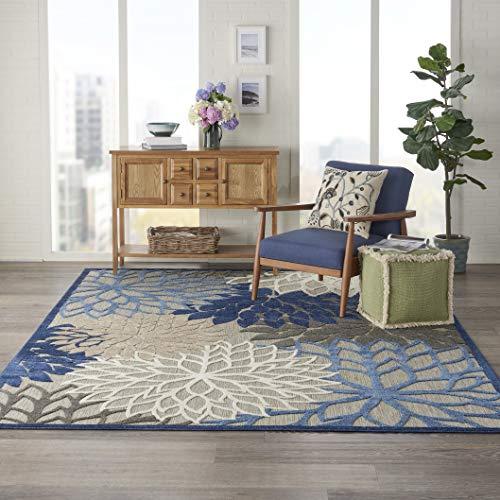Nourison Aloha ALH05 Indoor/Outdoor Floral Blue/Multicolor 7'10