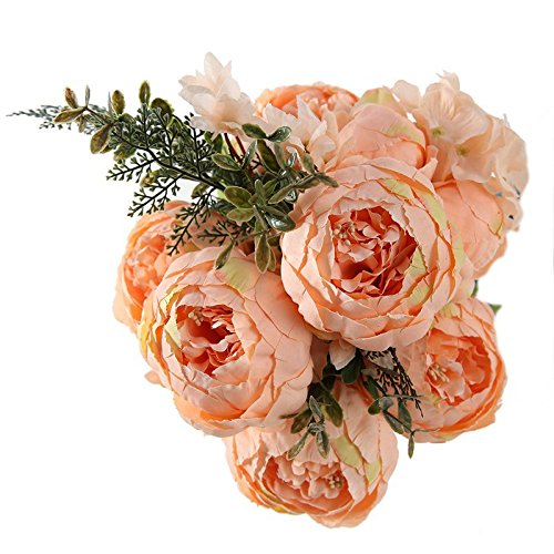 Lilly Branch - 13 Branch/Bouquet Artificial Flowers Peony Vivid Flores Artificiales Fake Silk Rose Bridal Wedding Decor Wreath Gland Home style 3 champagne