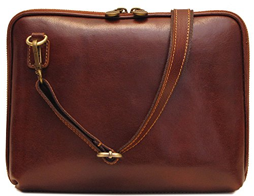 Floto Roma Tablet Bag in Brown Italian Calfskin Leather